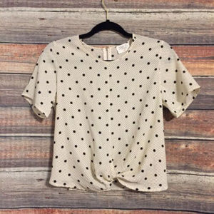 Urban outfitters sienna sky polka dot blouse